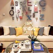 现代简约风格小户型客厅沙发照片墙装修效果图