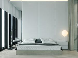 10平米现代极简主义风格卧室装修效果图大全