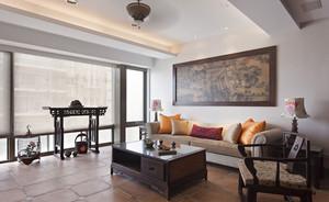 9平米中式风格客厅挂画装修效果图赏析