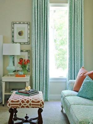 4平米美式田园风格客厅窗帘设计装修效果图