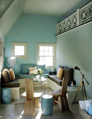 日式清新风格阁楼客厅设计装修效果图