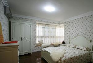 15平米欧式田园风格卧室墙纸设计效果图赏析