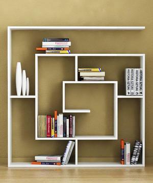 6平米现代简约风格卧室书架设计装修效果图