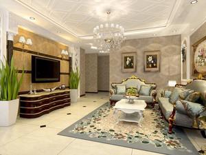 现代简欧风格大户型公寓装修效果图赏析