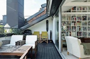 大户型现代风格客厅阳台推拉门装修效果图赏析