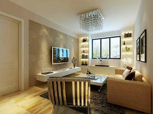 70平米小户型后现代风格客厅电视背景墙装修效果图
