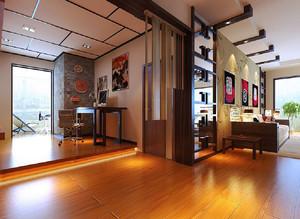 60平米现代中式风格公寓设计装修效果图