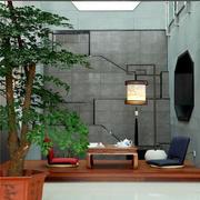 5平米中式风格别墅庭院榻榻米设计效果图鉴赏