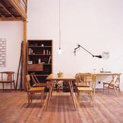 5平米中式简约风格实木餐厅装修效果图