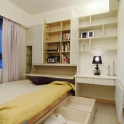 自然轻快时尚精致卧室背景墙装修图实例