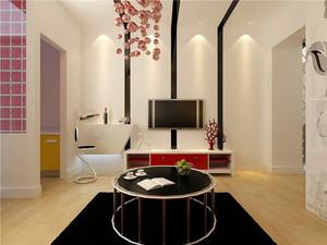 70平米现代风格时尚靓丽精装公寓装修效果图