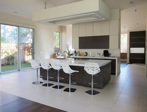 200平米现代简约风格别墅厨房吧台设计效果图赏析