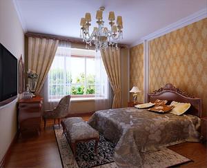 20平米古典欧式风格卧室飘窗装修效果图赏析