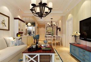 地中海风格时尚混搭小户型公寓装修效果图