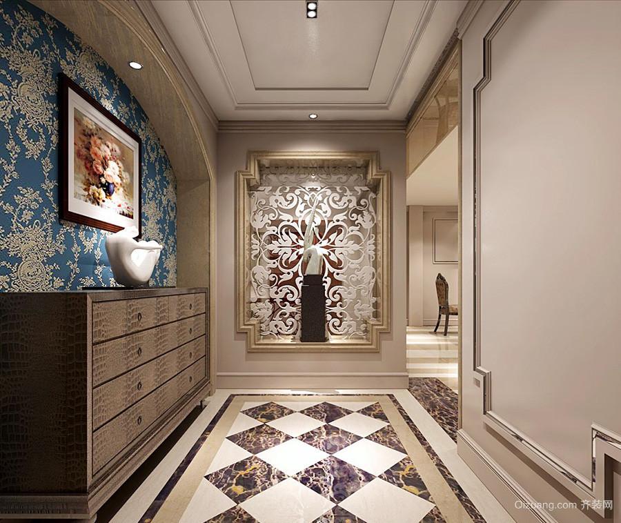 10平米欧式风格别墅进门玄关橱柜设计效果图