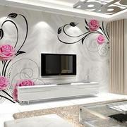 18平米现代简约风格客厅壁画电视背景墙装修效果图