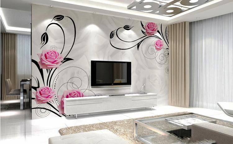 客厅现代电视墙100平米装修