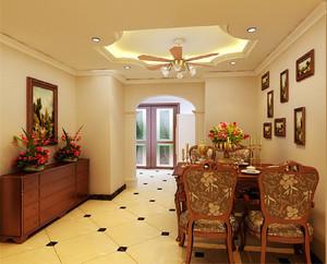 大户型古典欧式风格门厅餐厅装修效果图