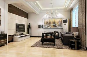 20平米现代简约风格客厅挂画装修效果图