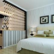 小户型现代简约风格卧室客厅隔断装修效果图