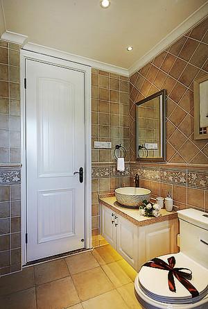 98平米欧式田园风格两室两厅设计装修实景图