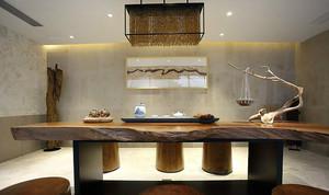 12平米现代中式风格客厅实木茶几装修效果图