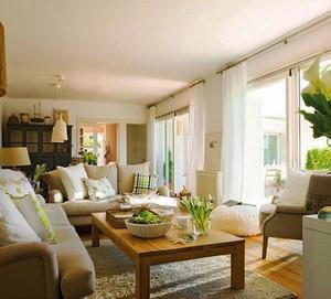 86平米现代田园风格两室两厅设计装修效果图