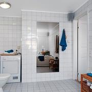 8平米北欧风格卫生间白瓷砖装修实景图