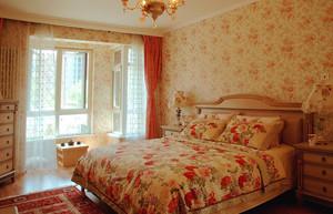 8平米欧式田园风格女生卧室墙纸装修效果图