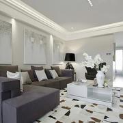 两室两厅现代简约风格客厅装修效果图