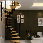 现代风格小户型复式楼客厅楼梯装修效果图