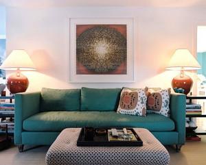 现代风格时尚色彩搭配客厅沙发装修效果图