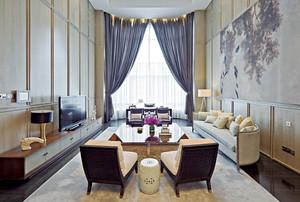 146平米新古典欧式风格精致三室两厅装修效果图赏析