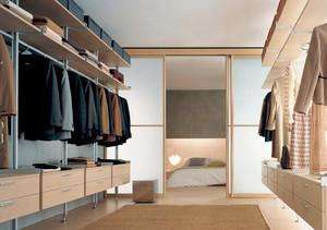 大户型现代简约风格卧室衣帽间推拉门装修效果图