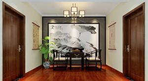 中式风格168平米复式楼室内整体设计装修效果图