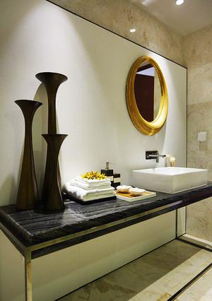 现代中式风格古朴自然三居室装修效果图鉴赏