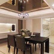 大户型现代简约风格餐厅厨房隔断装修效果图鉴赏
