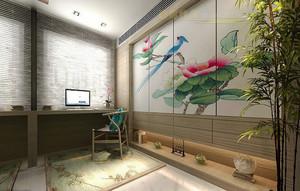 现代中式风格大户型室内整体设计装修效果图