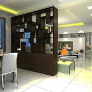 现代中式风格客厅餐厅隔断设计效果图赏析