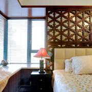 8平米中式风格卧室飘窗设计效果图鉴赏