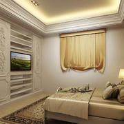 8平米简欧风格卧室电视柜设计装修效果图