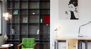 7平米现代风格书房板式博古架装修效果图鉴赏
