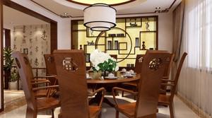 10平米新中式风格餐厅博古架装修效果图