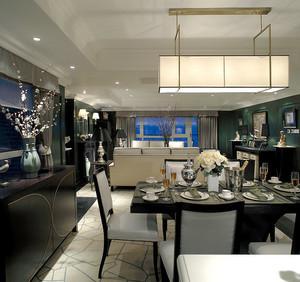 大户型现代中式风格餐厅吊灯设计效果图