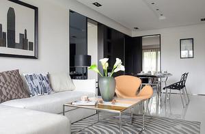 86平米后现代风格精致公寓装修效果图