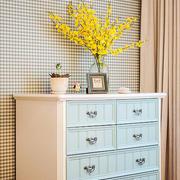 欧式田园风格简约舒适客厅橱柜设计效果图