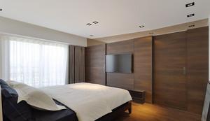 现代简约风格小户型冷色调男生公寓装修效果图