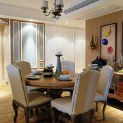 现代美式风格餐厅复古吊灯设计效果图