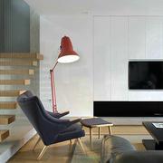 后现代简约风格创意室内客厅楼梯装修效果图
