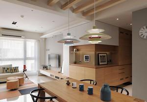 宜家风格简约大户型实木餐厅设计装修效果图